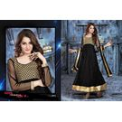Kmozi Fancy Designer Anarkali Suit, black