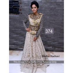 Kmozi Bindu Madhavi Designer Lehenga, white