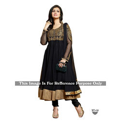 Kmozi Designer Fancy Anarkali Suit, black