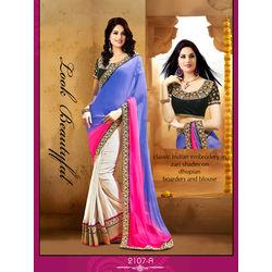 Kmozi New Arrivals Designer Saree Buy Online, multicolor