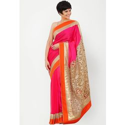 Kmozi New Fancy Designer Saree Online, pink