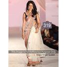 Kmozi Bollywood Fancy Style Saree, cream