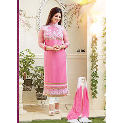 Kmozi Ayesha Takia Straight Long Salwar Kameez Online, pink