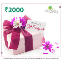 Natural Mantra Gift Certificate - Rs 2000