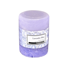 Rosemoore Lavender Blue Scented Pillar Candle, Blue