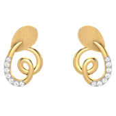 EARRING (LJER0105), 14k, hi-vs/si