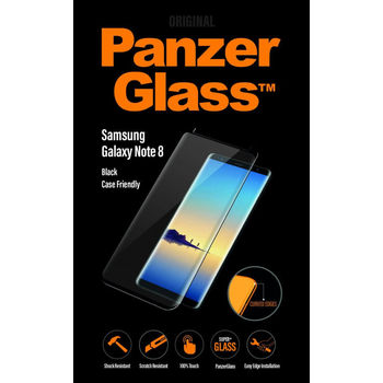 PANZERGLASS GALAXY NOTE 8 TEMPERED GLASS BLACK