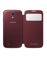 SAMSUNG GALAXY S4 S VIEW COVER,  red