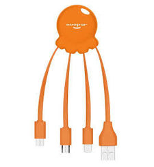 XOOPAR CHARGING CABLE MATT,  orange