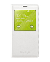 SAMSUNG GALAXY S5 S VIEW COVER,  white
