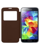 ANYMODE S5 S VIEW FLIP COVER LAMBSKIN BROWN