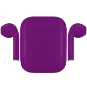 APPLE AIRPODS PAINTED SPECIAL EDITION, matte,  grapes