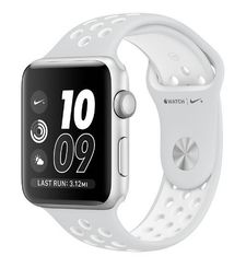APPLE SMART WATCH 42MM ALUMINIUM CASE WITH SPORT PLASTIC BAND WHITE MQ192