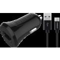EVEREADY MICRO USB CAR CHARGER 2.4A BLACK