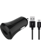 EVEREADY MICRO USB CAR CHARGER 2.4A BLACK