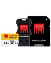 STRONTIUM 64GB NITRO MICROSD 566X UHS1 (3IN1)