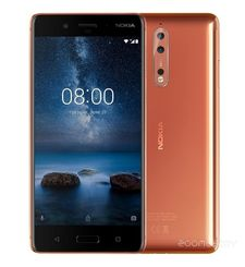 NOKIA 8 64GB DUAL SIM,  polished copper