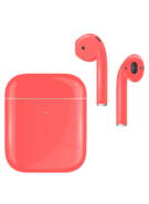 APPLE AIRPODS SECOND GEN WIRELESS PAINTED SPECIAL EDITION,  coral orange, gloss