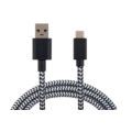 NUSHH TYPE C CABLE BRAIDED 1M,  black