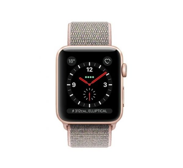the latest fe8f0 87953 APPLE WATCH SERIES 3 42MM GPS CELLULAR GOLD ALUMINUM PINK SAND SPORT LOOP
