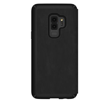SPECK PRESIDO FOLIO LEATHER GALAXY S9 PLUS BACK CASE,  black
