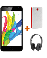 FOUR S555 with FREE MYCANDY BLUETOOTH HEADSET & MYCANDY POWERBANK,  black