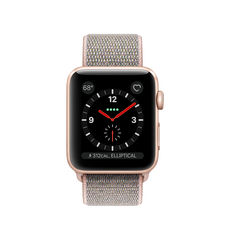 APPLE SMARTWATCH SERIES 3 38MM MQKL2 GOLD ALUMINIUM CASE WITH PINK SAND SPORT LOOP - CELLULAR