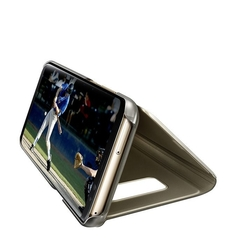 SAMSUNG GALAXY S8 CLEAR VIEW STANDING COVER,  maple gold