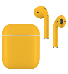 APPLE AIRPODS SECOND GEN WIRED PAINTED SPECIAL EDITION,  lamborghini, matte
