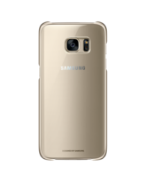 SAMSUNG GALAXY S7 EDGE CLEAR BACK COVER GOLD,  black
