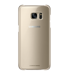SAMSUNG GALAXY S7 EDGE CLEAR BACK COVER,  gold