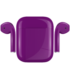 APPLE AIRPODS PAINTED SPECIAL EDITION, gloss,  grapes