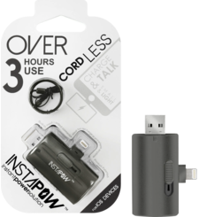 INSTAPOW CORDLESS LIGHTNING POWERBANK 700MAH,  silver