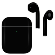 APPLE AIRPODS SECOND GEN WIRELESS PAINTED SPECIAL EDITION, matte,  jet black