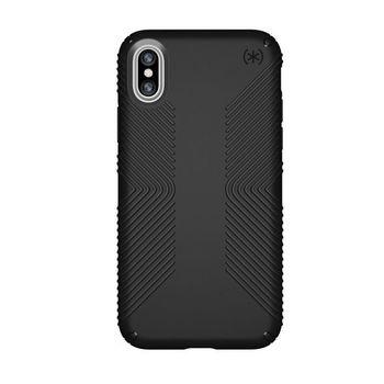 SPECK IPHONE X BACK CASE PRESIDO GRIP,  black