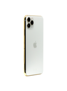 APPLE IPHONE 11 PRO 256GB WITH 24K GOLD PLATED FRAME,  silver