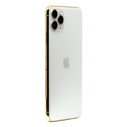 APPLE IPHONE 11 PRO MAX 256GB WITH 24K GOLD PLATED FRAME,  silver