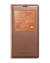SAMSUNG GALAXY S5 S VIEW COVER,  gold