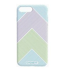 CYGNETT IPHONE 8 PLUS CHEVRON STRIPE CASE,  white