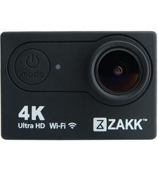 ZAKK 4K WIFI ACTION CAMERA 16MP WATERPROOF,  black
