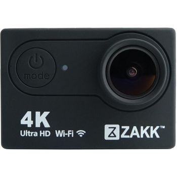 ZAKK 4K WIFI ACTION CAMERA 16MP WATERPROOF,  black