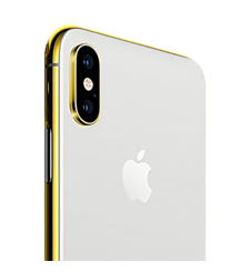 24K GOLD PLATED APPLE IPHONE XS MAX,  silver, 256gb