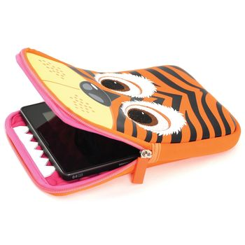 TAB ZOO BACK CASE 8 INCH TIGER