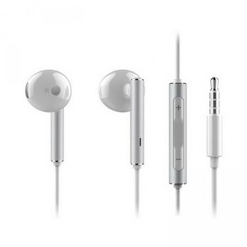 HUAWEI IN EAR STEREO HEADSET AM116 METAL COVER,  white