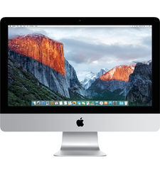 APPLE IMAC MK442LL/A INTEL CORE I5, 2.8GHZ, 21.5 INCH LED, 1TB, 8GB RAM, OS EL CAPITAN, SILVER