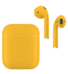 APPLE AIRPODS SECOND GEN WIRELESS PAINTED SPECIAL EDITION, matte,  lamborghini