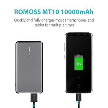 ROMOSS MT10 PRO 10000MAH POWER BANK,  dark grey
