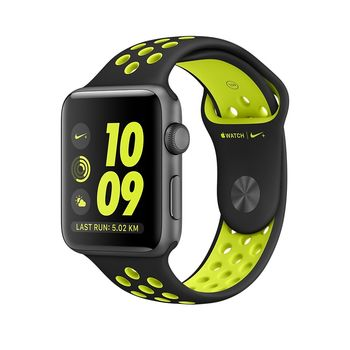 APPLE WATCH NIKE+ SERIES 2 SPACE GRAY ALUMINUM CASE WITH BLACK/VOLT NIKE SPORT BAND MP0A2