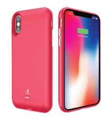 SMART IPHONE X WIRELESS BATTERY CASE,  red