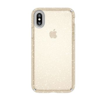 SPECK IPHONE X BACK CASE PRESIDO CLEAR PLUS,  gold